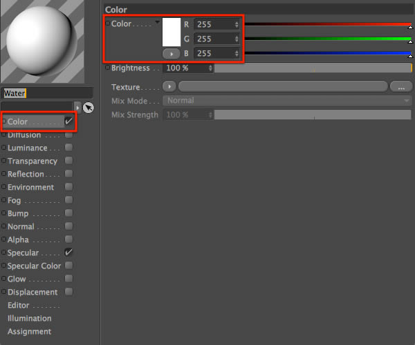 Material Editor Color
