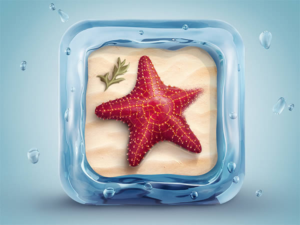 Link toCreate a beautifully designed 3d starfish icon