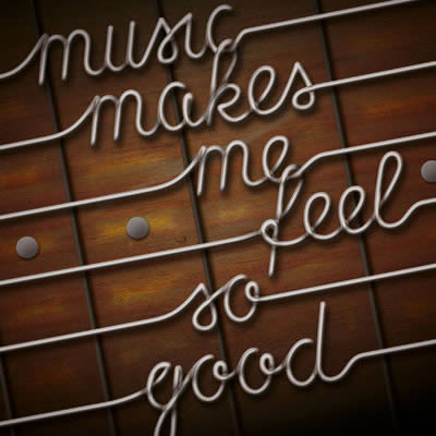 Preview for Use Photoshop and Illustrator to Create Guitar String Typography