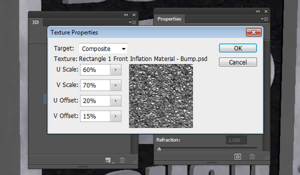 UV Properties of the Bump Texture