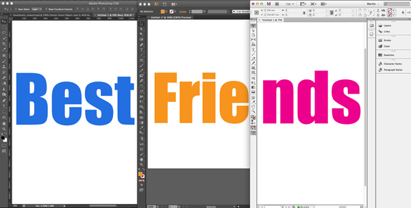 photoshop s best friends indesign and illustrator