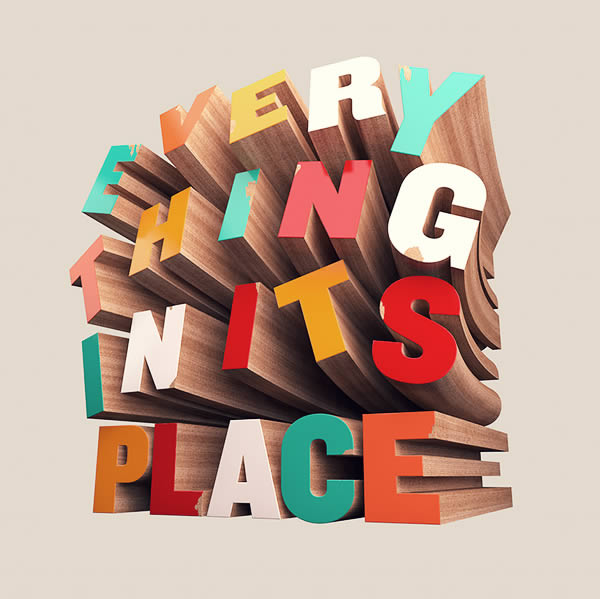 Link toHow to create colorful wooden 3d text