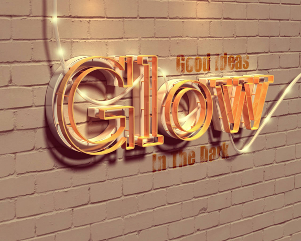 Link toCreate a glowing 3d text effect with filter forge and photoshop