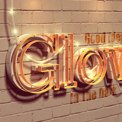 Preview for Create a Glowing 3D Text Effect With Filter Forge and Photoshop