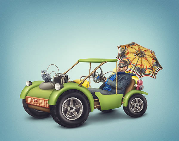 Create a colorful dune buggy illustration in photoshop – tuts+ premium tutorial