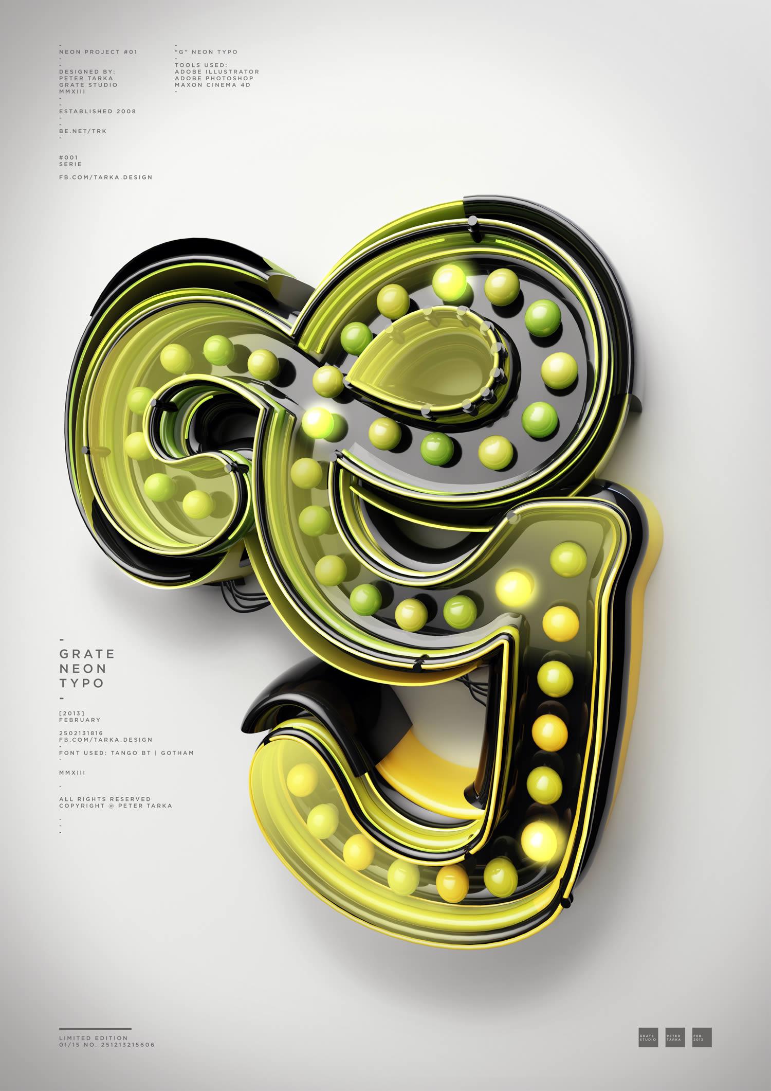 create a 3d vintage lightbulb sign using illustrator cinema 4d and photoshop