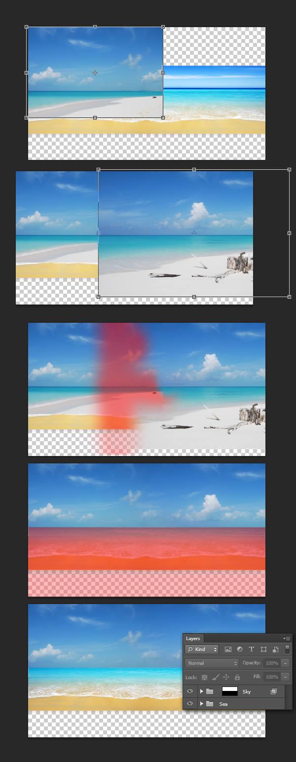 Как сделать текст из моря