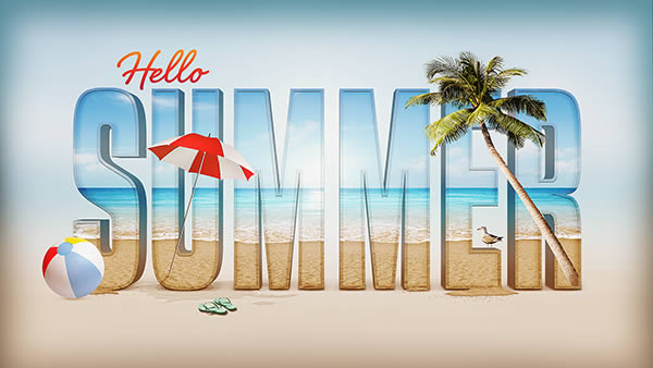 Link toCreate a summer inspired 3d text effect in photoshop