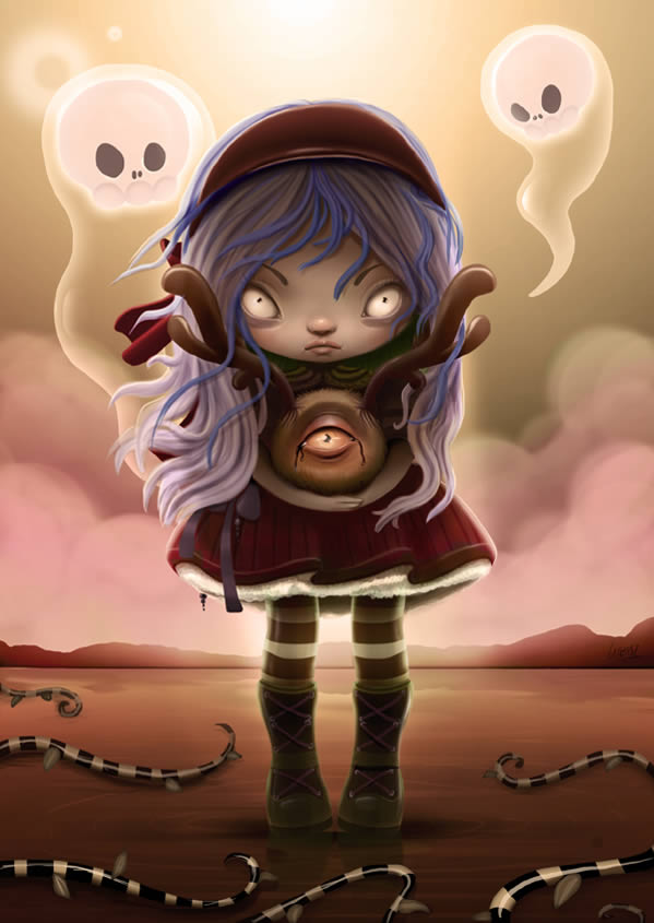 Link toCreate a halloween-inspired children's illustration in photoshop