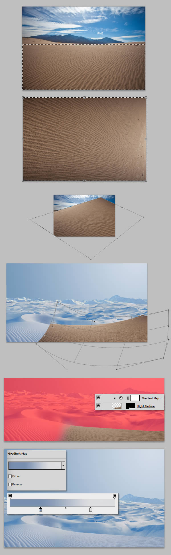 For the rightmost dunes do the same