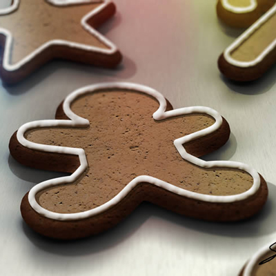 Preview for Create a Gingerbread Cookie Scene Using Smart Objects