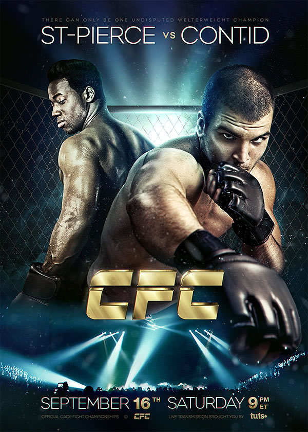 create a mixed martial arts event flyer in photoshop