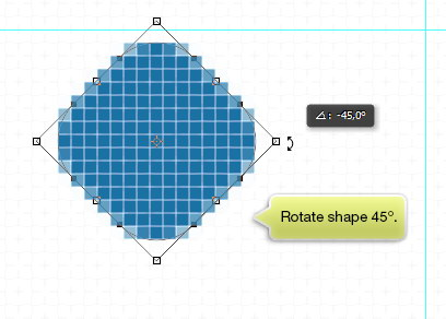 Rotate shape 45