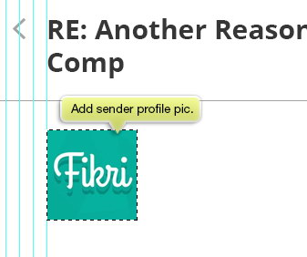 add sender picture