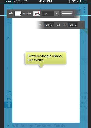 draw white rectangle