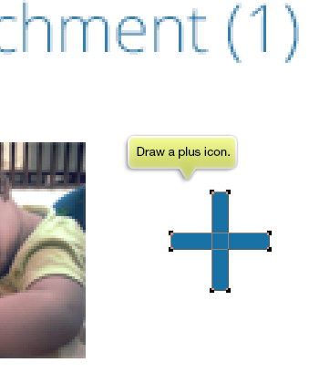 draw a plus icon