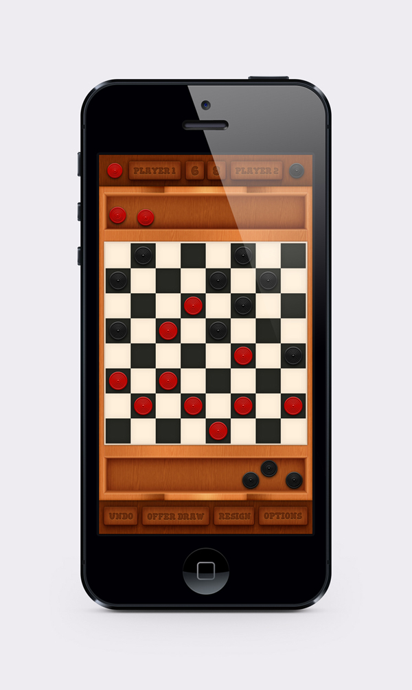 Checkers Mobile Game Interface