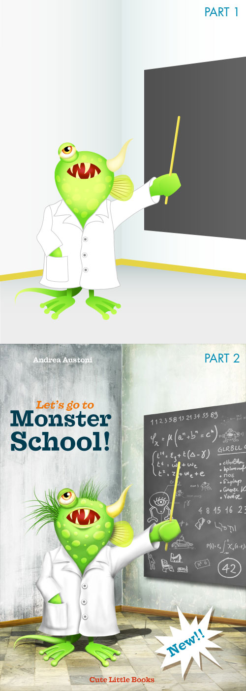 School Book Cover Creator ~ Create character driven book cover art using illustrator