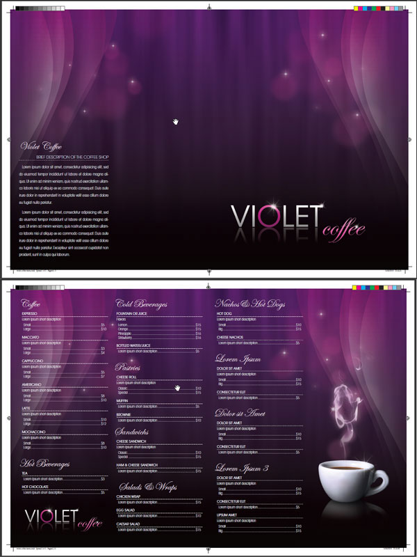 Link toDesign a coffee shop menu layout from scratch with photoshop and indesign - part 2