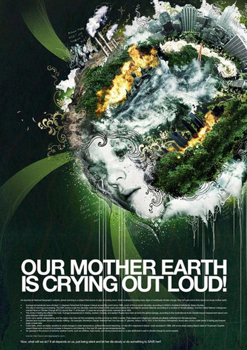 Image result for mother earth crying out pollutions on face of