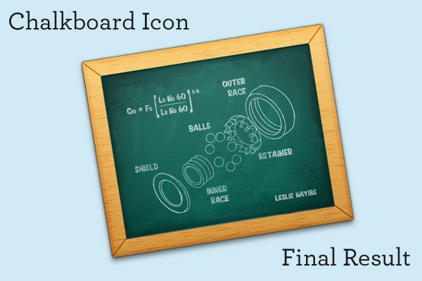 Link toCreate a chalkboard icon using photoshop and iconbuilder