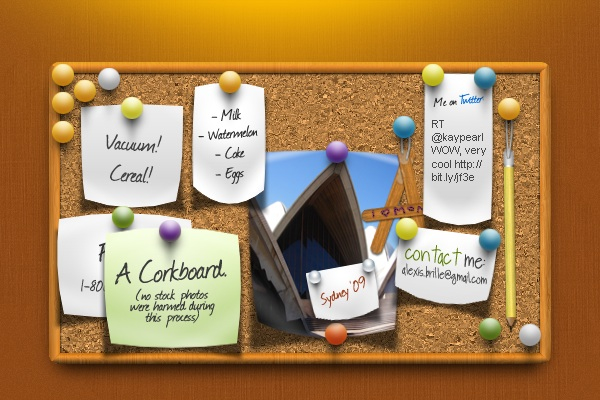 Create a bulletin board with realistic shadows part 1 bulletin boards or corkboards are popular types of graphics to use in web and print designs but oftentimes they look unrealistic due to altavistaventures Choice Image