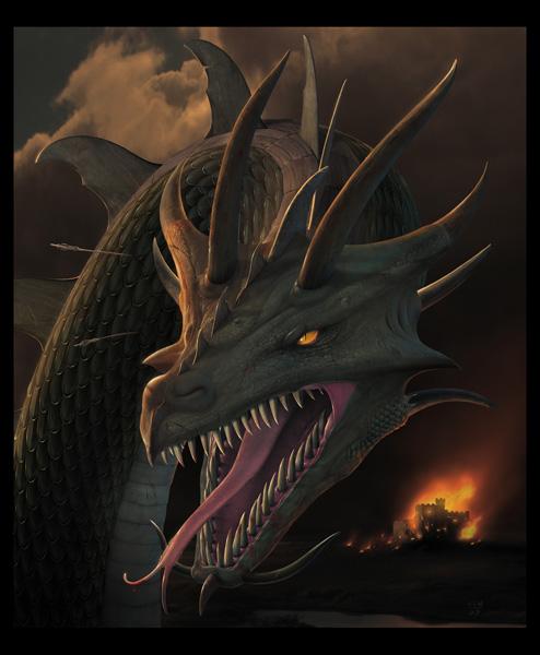 Dragon Drawings: Inspiration: 50 Digital Dragon Paintings