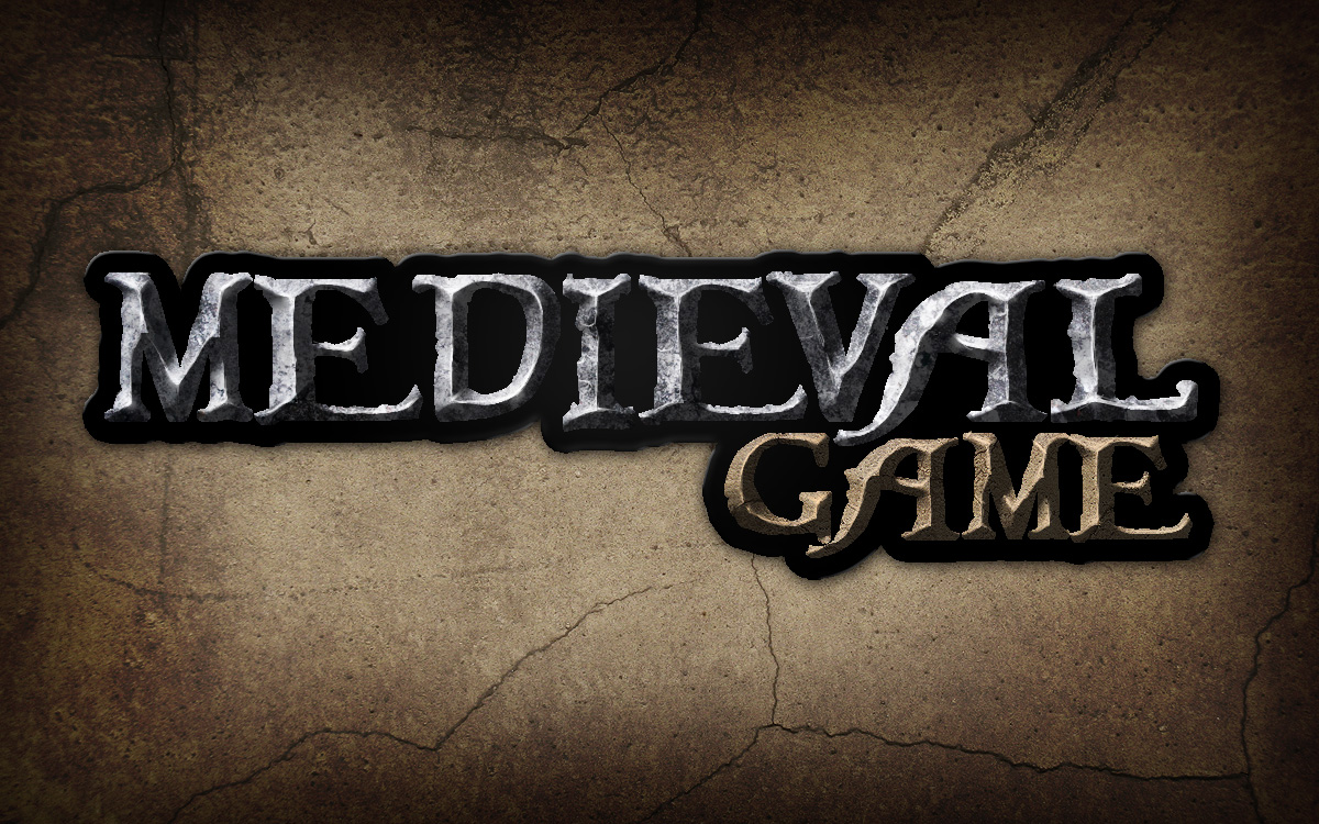 Give a medieval game logo a rough stone look toneelgroepblik Image collections