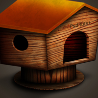Preview for Create A Wooden House Icon in Photoshop
