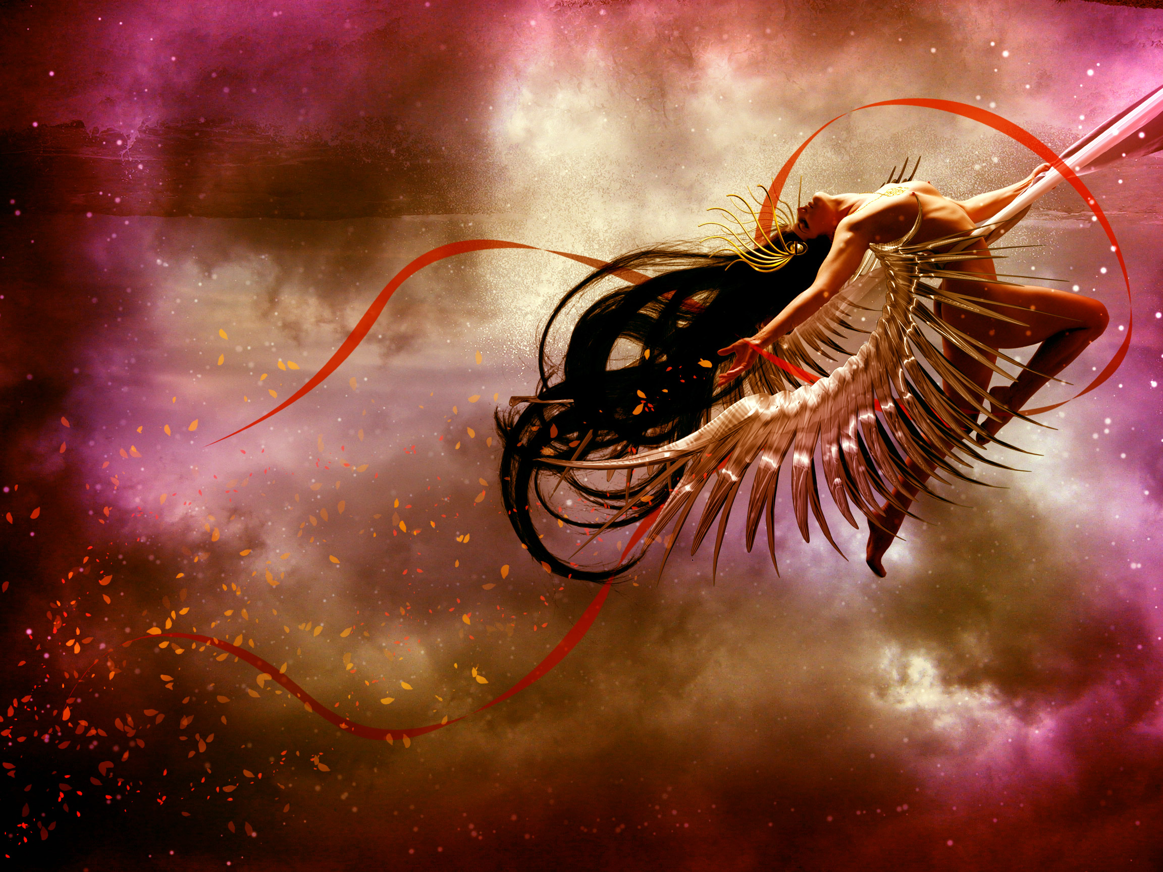 A cosmic love goddess with photoshop cs5 final image baditri Images