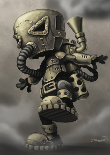 Steelo - Summon Steampunkcharacterwip3