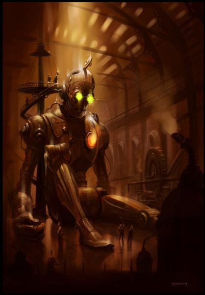Fantasy Skeleton Steampunk Art