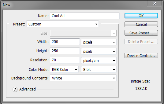 Quick tip: create an animated banner ad in photoshop cs5