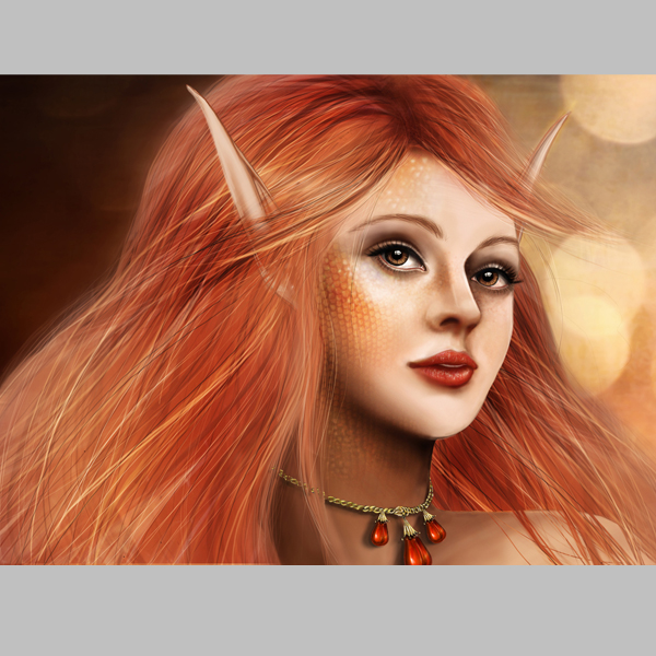 Link toHow to paint a fantasy portrait from scratch with photoshop