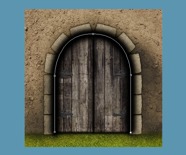 Step 14 & Create a Medieval Fantasy Castle Gate in Photoshop