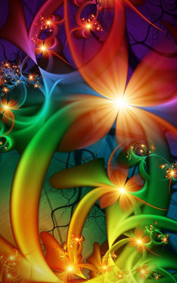 amazing rainbow fractal art - photo #28