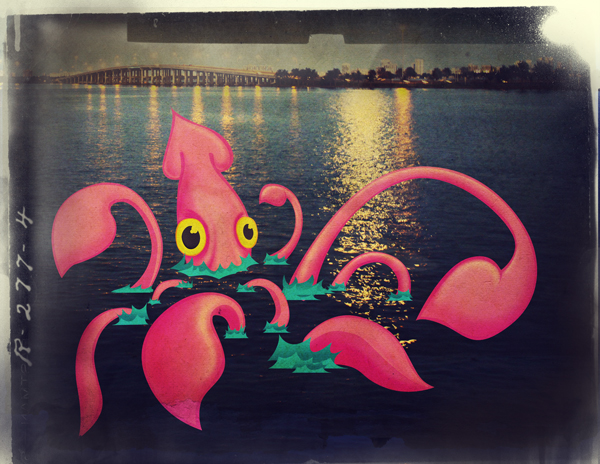 Link toCreate a vintage squid illustration by combining photographic and illustrative elements