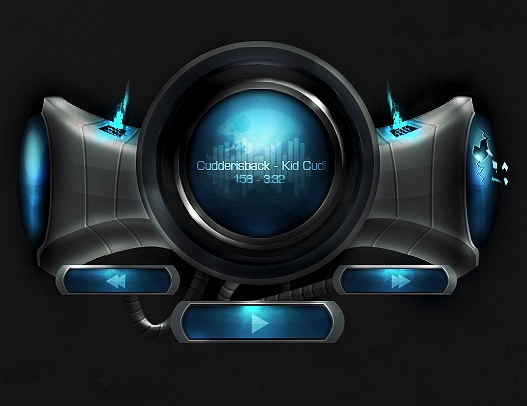 Link toCreate a futuristic music player interface in photoshop