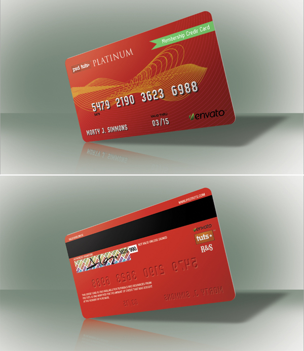 Link toQuick tip: create a realistic credit card in photoshop