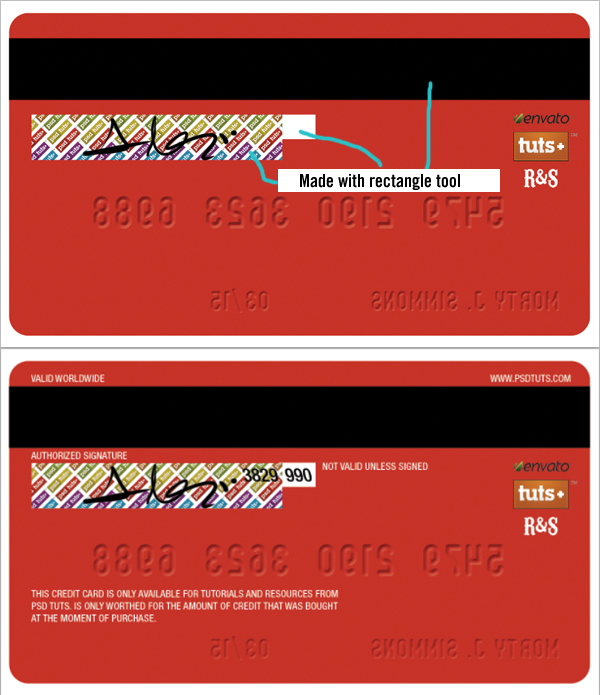 Credit Card Front And Back That Works
