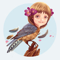 Preview for Create a Fantasy Girlbird Illustration in Photoshop