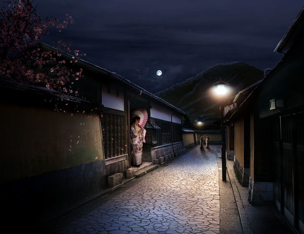 Link toCombine stock photography to create a sleepy japanese village in photoshop