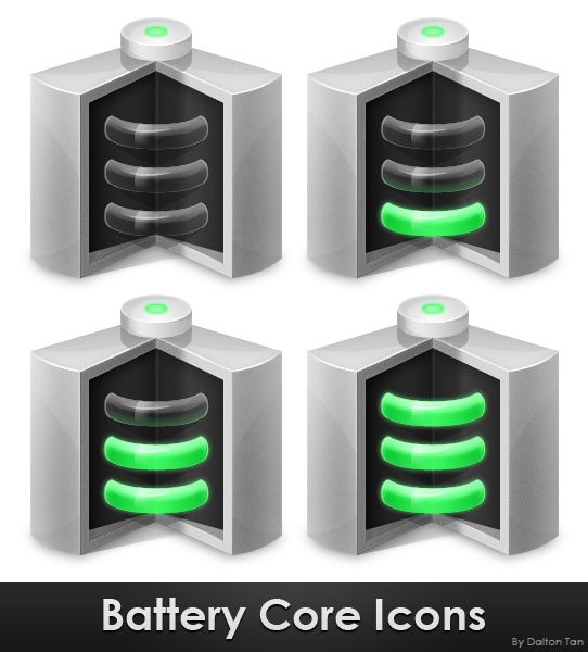 Link toCreate a battery core icon in photoshop