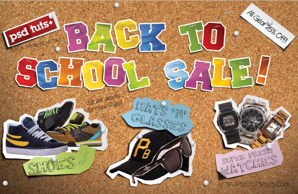 "Create a handmade ""back to school"" style postcard"