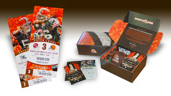 Designing the 2010 cleveland browns season tickets