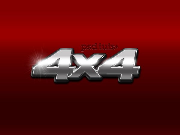 Link toQuick tip: create a chrome 4x4 vehicle emblem