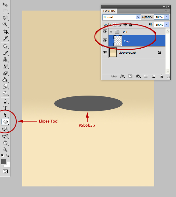 how to make an oval in photoshop