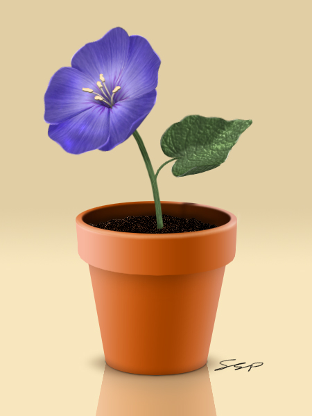 Link toCreate a flowerpot from scratch in photoshop