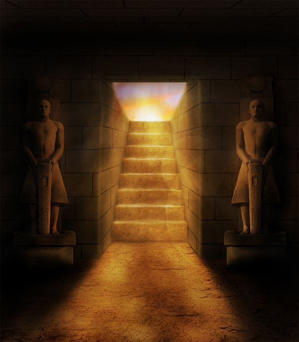 Create An Ancient Egyptian Tomb In Photoshop