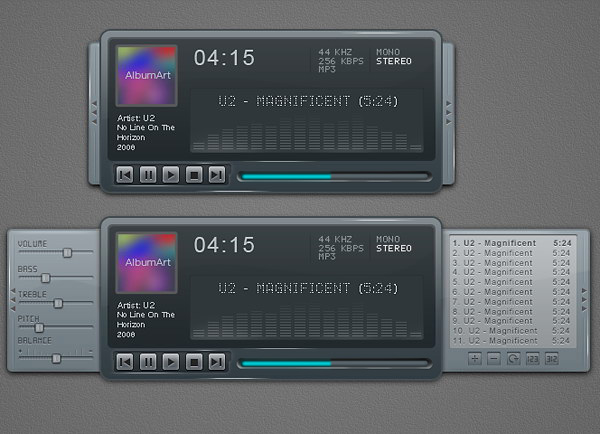 Link toCreate a sleek and clean mp3 player interface